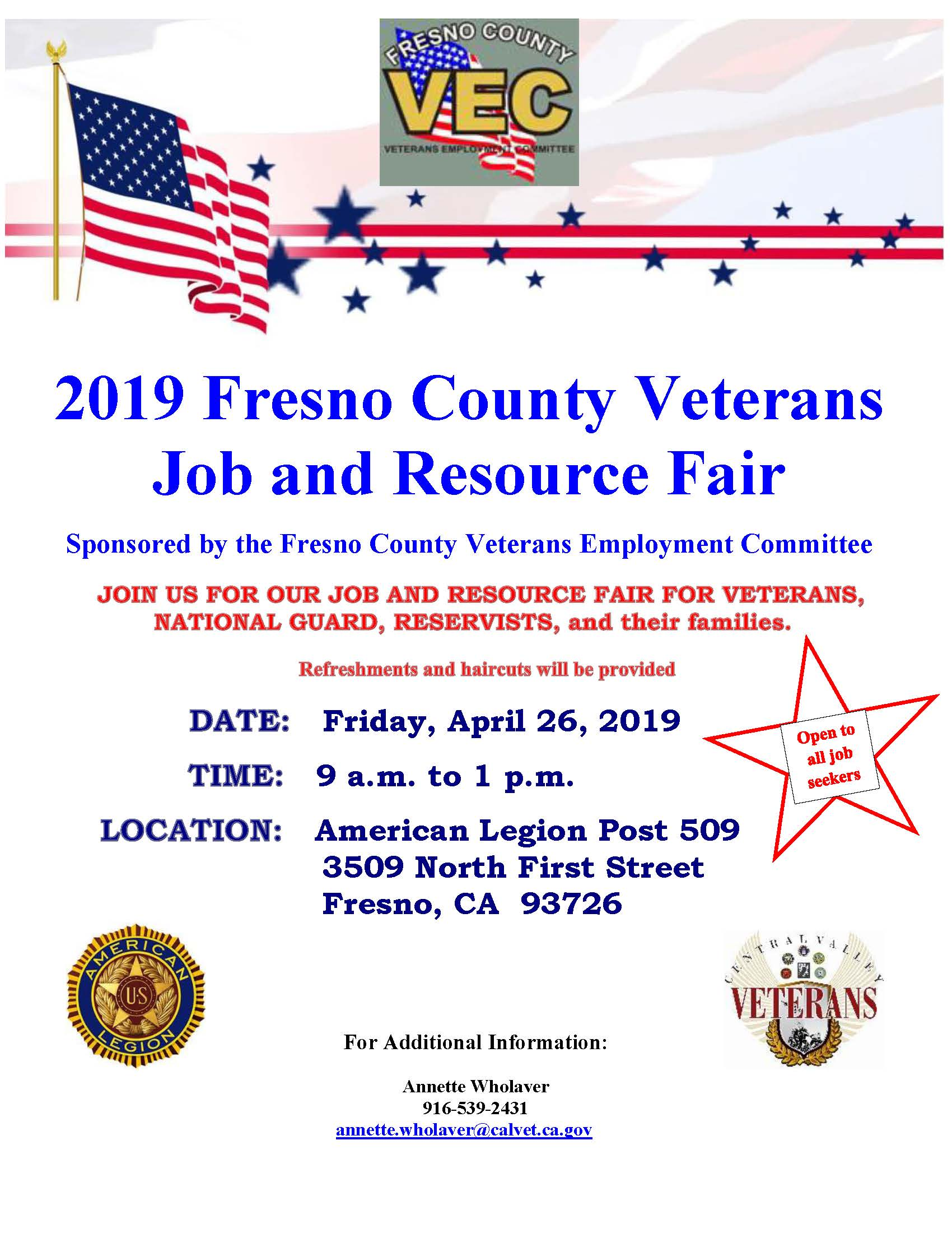 2019 VEC Job Fair Flyer