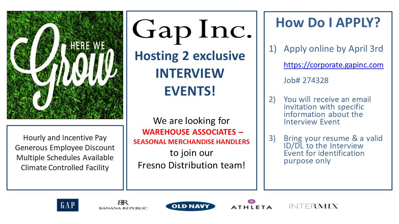 Gap hiring event